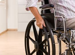 Man in wheelchair - Disability benefits